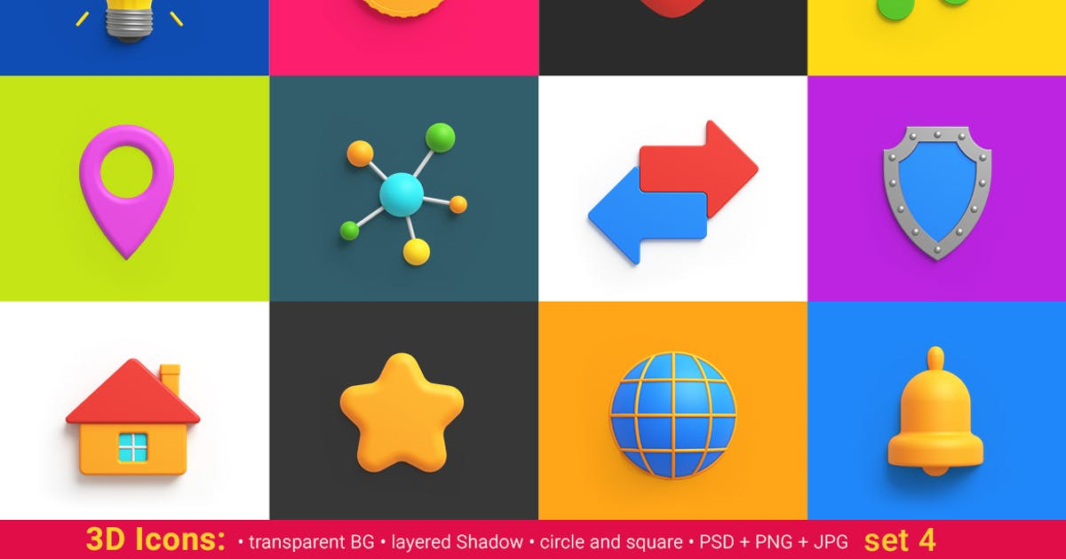 Download icons pack 3D style Universal Friendly by Sentavio