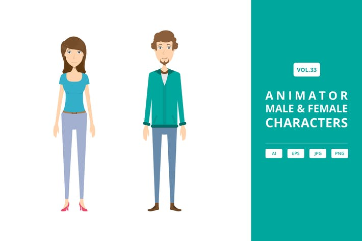 Thumbnail for Animator - Male & Female Characters Vol.33