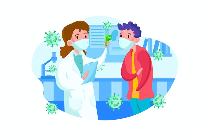 Thumbnail for Doctor checking body temperature