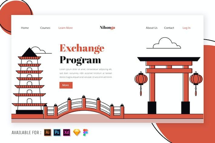 Heritage Stätten Japans - Umriss Illustration