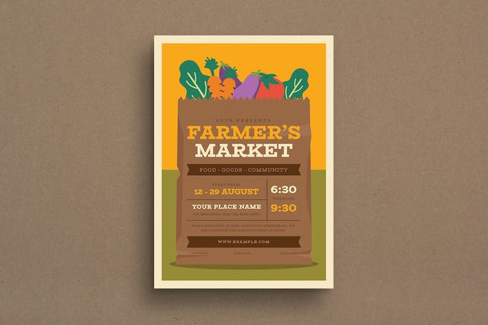 Cover Image For Farmer's Market Event Flyer