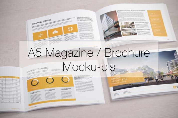 Thumbnail for A5 Magazine / Brochure Mock-up's