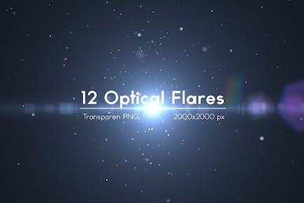 12 Optical Flares