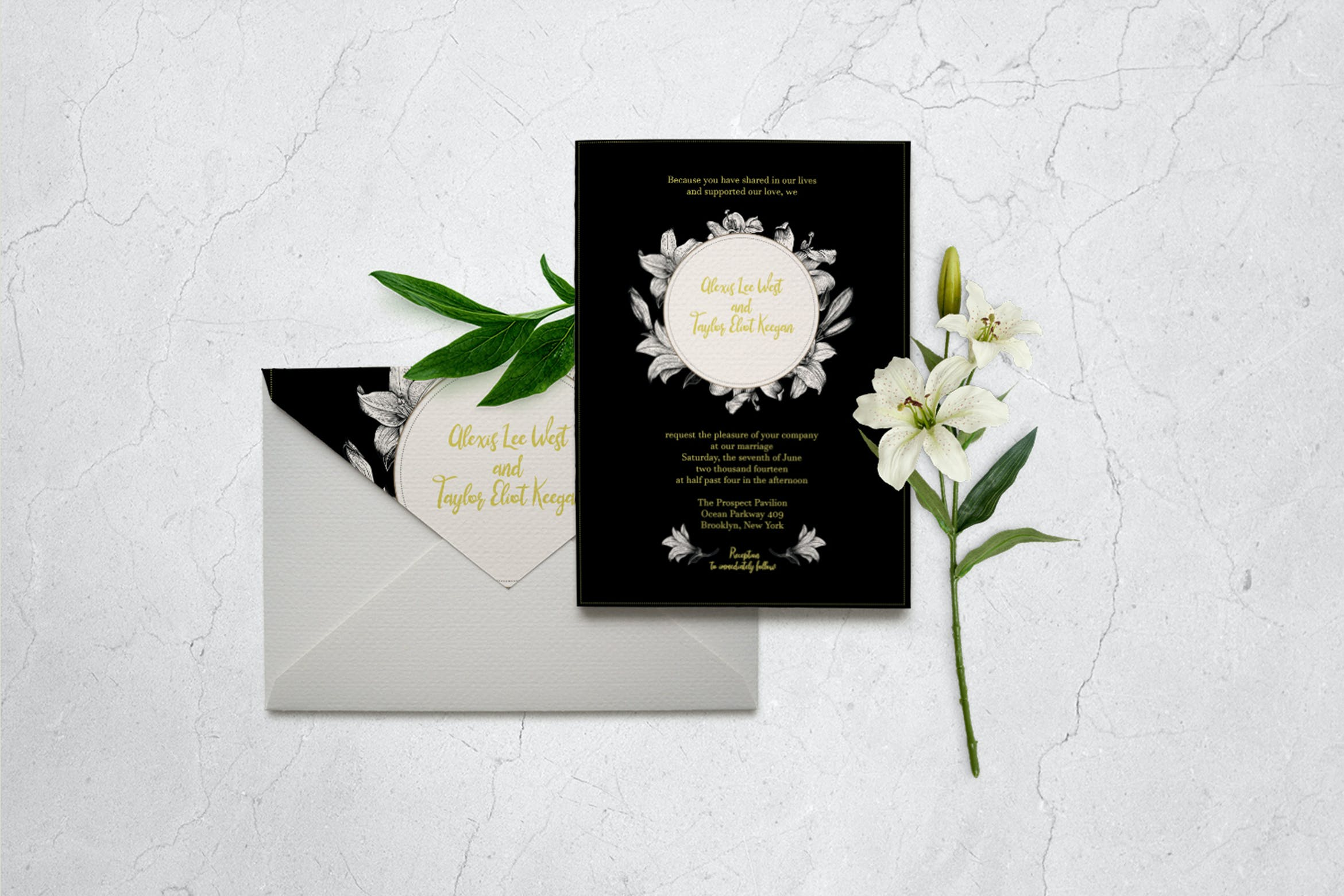 Classic Wedding Invitation Card Template by Squirrel92 on Envato Elements