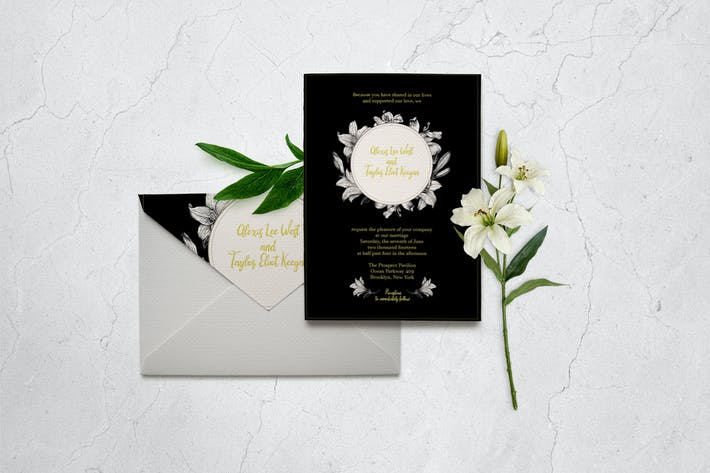 Cover Image For Classic Wedding Invitation Card Template