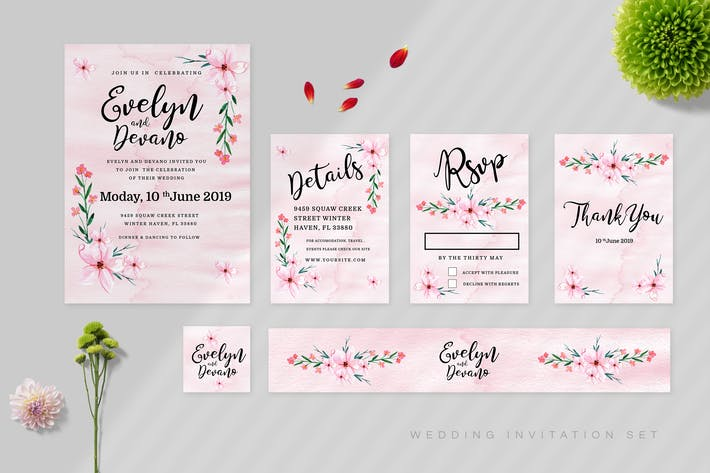 Cover Image For Wedding Invitation Set Vol 06