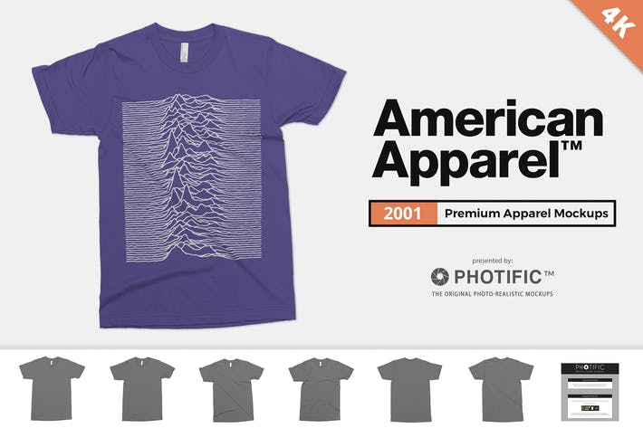 Thumbnail for American Apparel 2001 T-Shirt Mockups