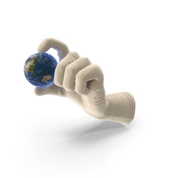 Glove Holding Tiny Earth