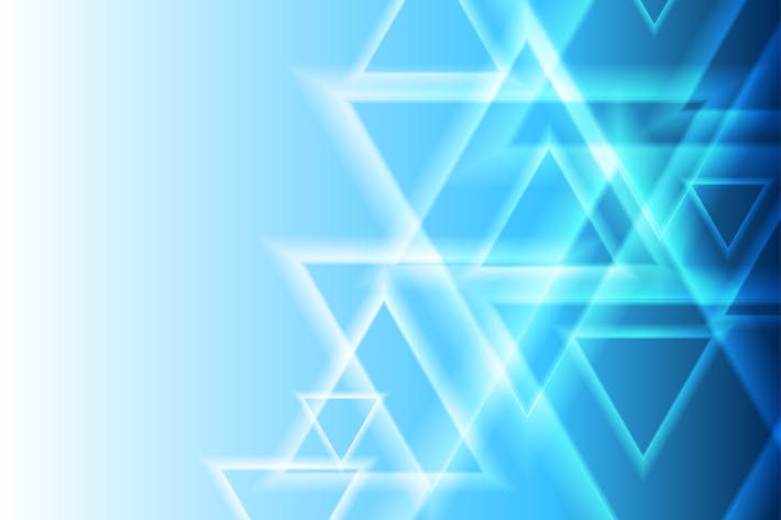 Thumbnail for Blue abstract triangles geometric tech background