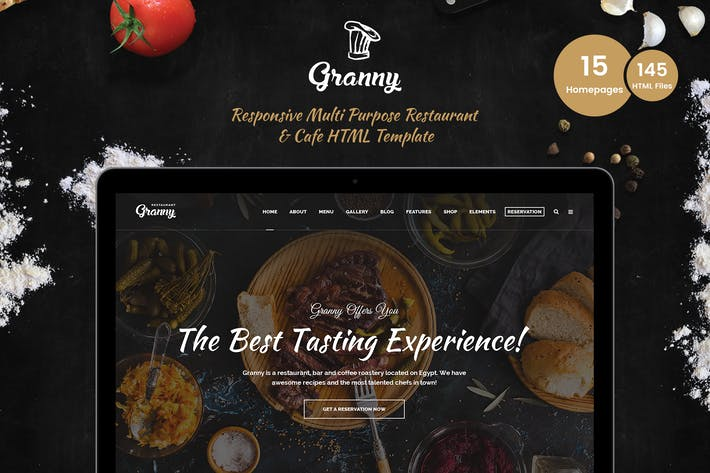 Thumbnail for Granny - Elegant Restaurant & Cafe HTML Template