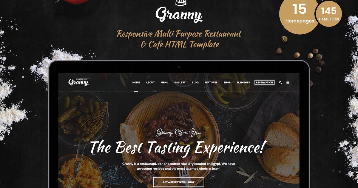Granny - Elegant Restaurant & Cafe HTML Template by zytheme