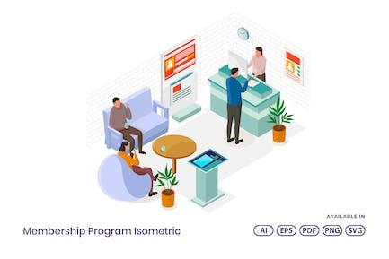 Mitgliedschaftsprogramm isometrisch