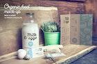 Organic Food Photo Mockup / Milk & Eggs