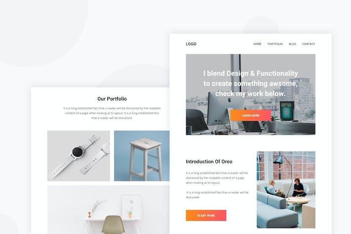 Thumbnail for Portfolio Agency - Email Newsletter