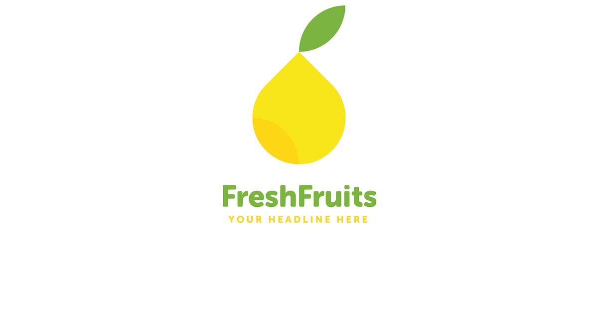 Fresh Fruits Logo Template by MuseFrame