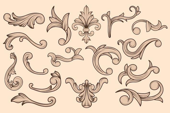 Thumbnail for Роскошный цветочный винтажный орнамент