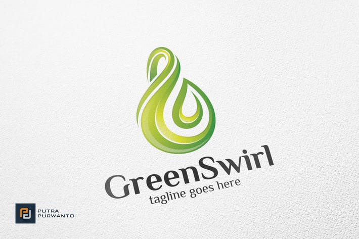 Thumbnail for Green Swirl - Logo Template