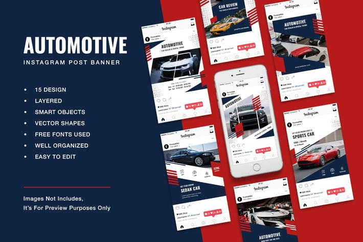Thumbnail for Automotive Instagram Post Banner