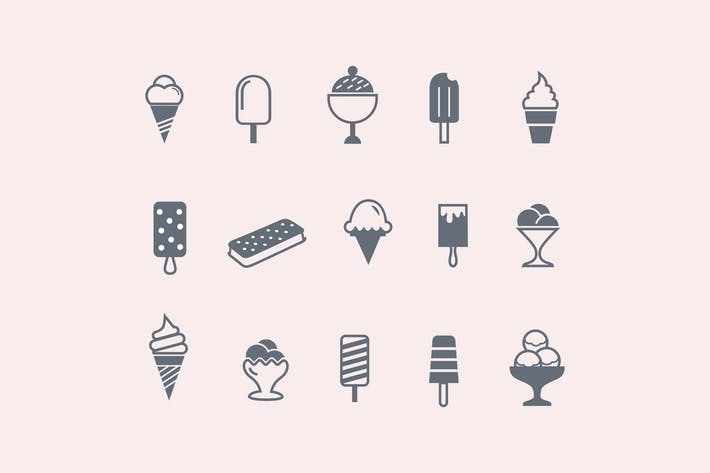 Cover Image For 15 Ice Cream Icons