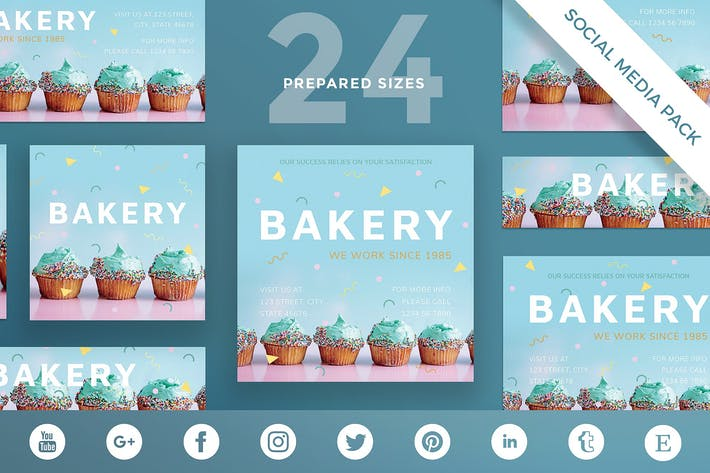 Thumbnail for Bakery Sweets Social Media Pack Template