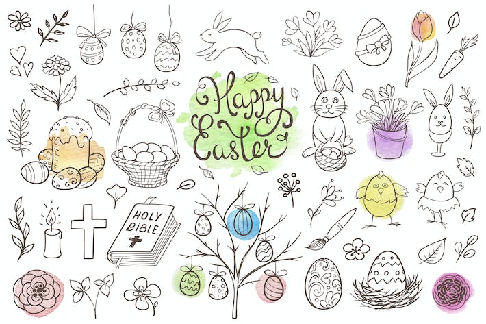 Thumbnail for Easter Doodles Design Kit