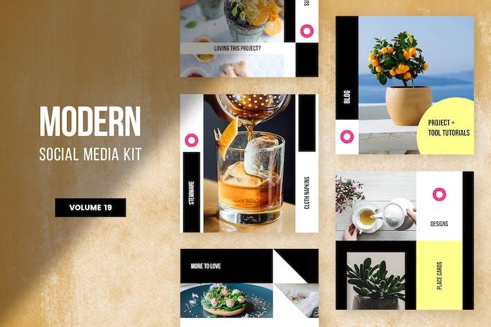 Cover Image For Modern Social Media Kit (Vol. 19)