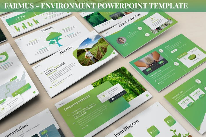 Thumbnail for Farmus - Environment Powerpoint Template