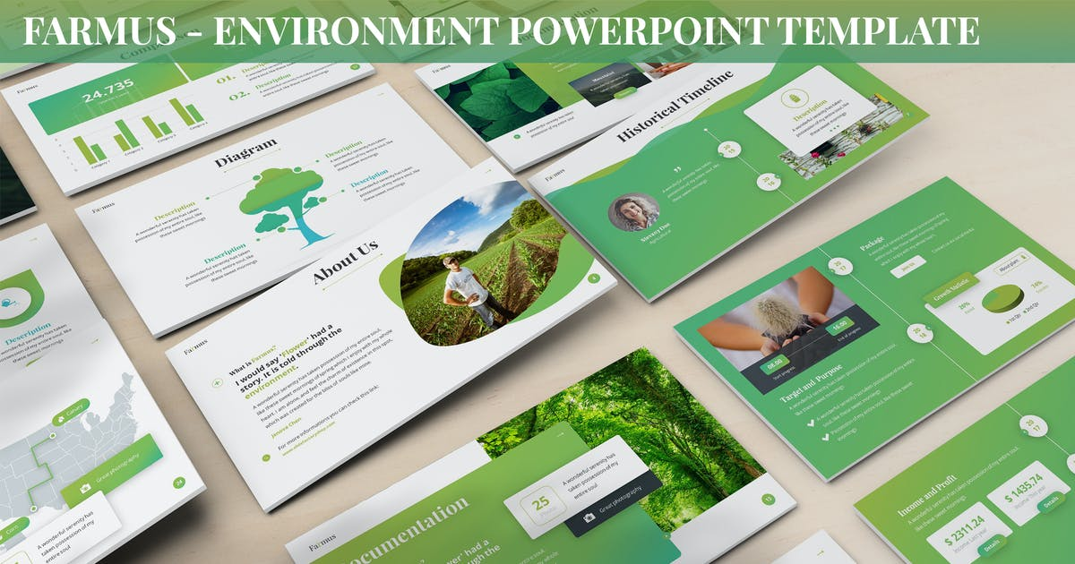 Download Farmus - Environment Powerpoint Template by SlideFactory