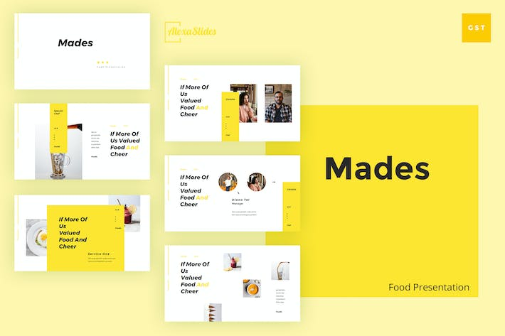 Thumbnail for Mades - Food Google Slides Template