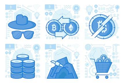 Bitcoin Exchange UI UX Illustrations