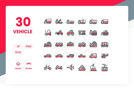 Vehicle - Icons Pack (Color)