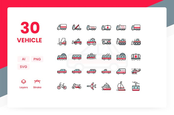 Thumbnail for Vehicle - Icons Pack (Color)