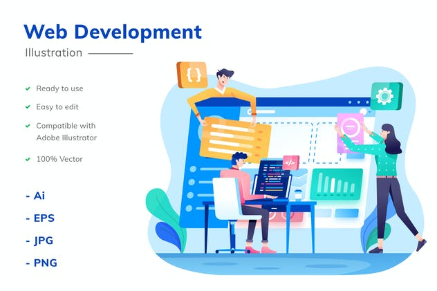 Web Development Illustration - product preview 0