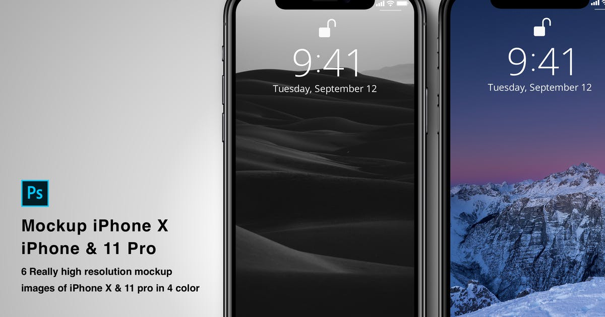 Download Mockup iPhone X by designfetch