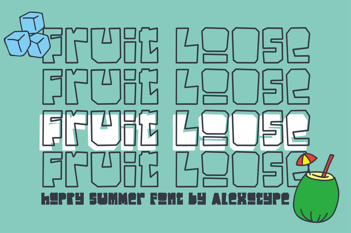 Thumbnail for Fruitloose - Happy Summer Font