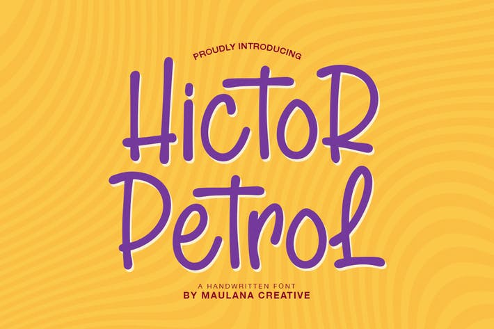 Thumbnail for Hictor Petrol - Fuente manuscrita Sans Con serifa