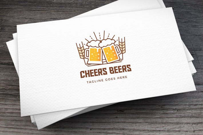 Thumbnail for Cheers Beers Logo Template