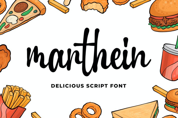 Cover Image For Marthein - Delicious Font