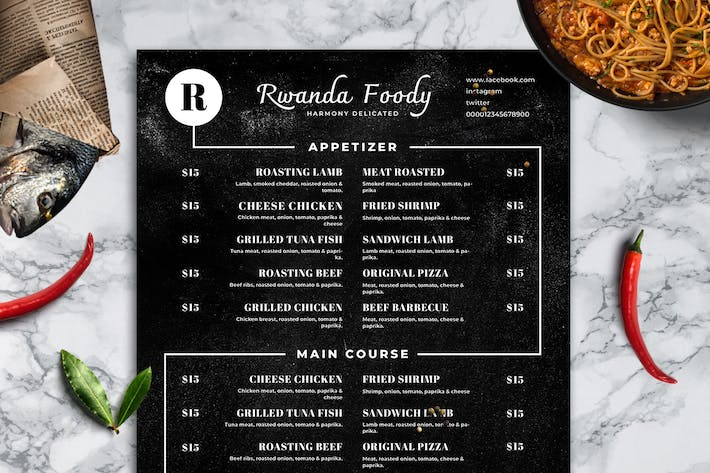 Thumbnail for Blackboard Food Menu. 26