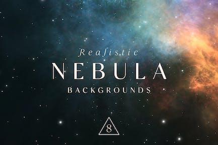 Realistische Nebula-Hintergründe