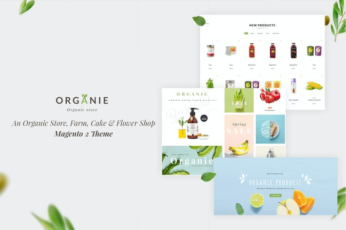 Thumbnail for Organie - Organic Store, Farm, Cake, Flower Theme