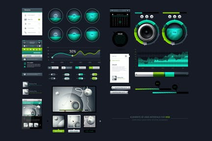 infographics element with Vector GUI Template