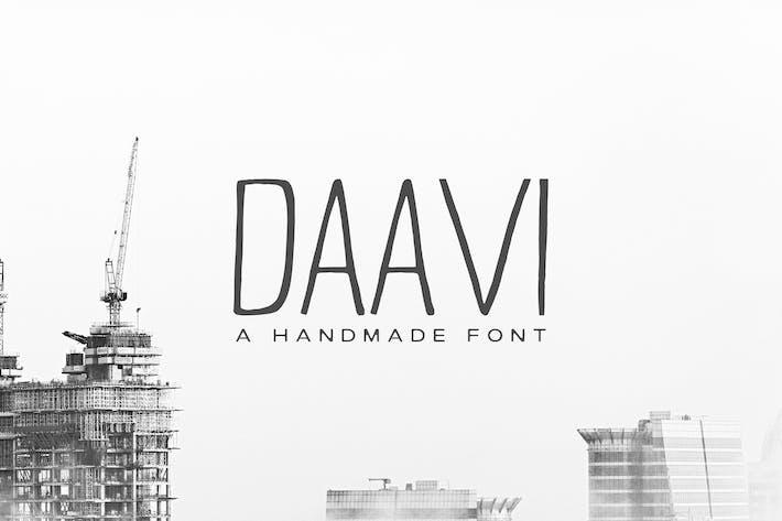 Thumbnail for Daavi Handmade Sans Serif Font