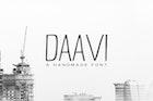 Daavi Handmade Sans Serif Font