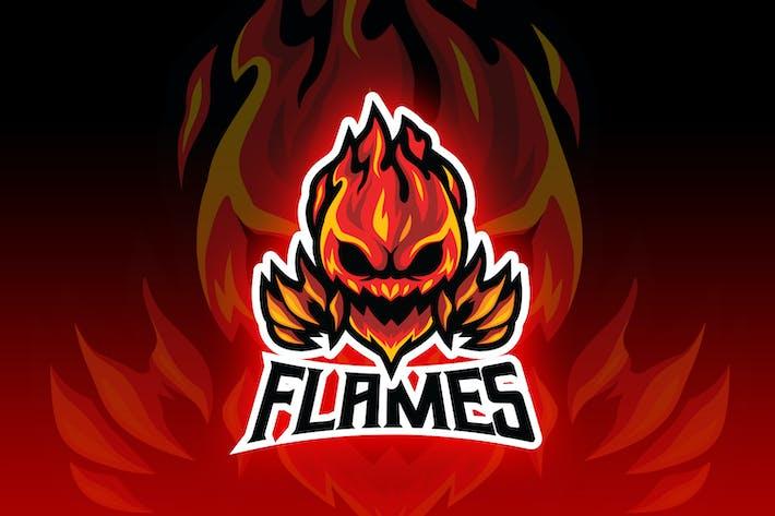 Thumbnail for Flames Demon Esport Logo