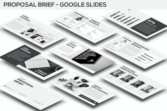 Thumbnail for Proposal Brief Google Slides Template