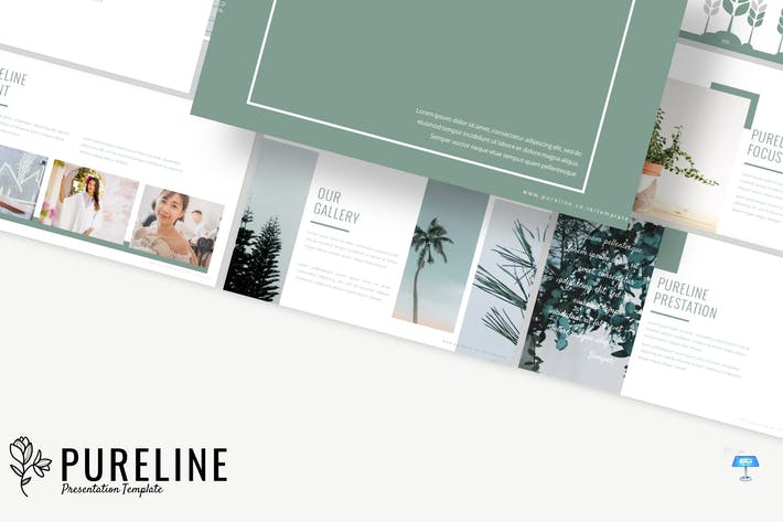 Thumbnail for Pureline - Keynote Template