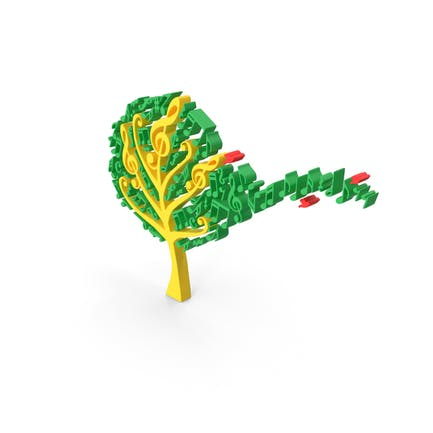 Toon Music Notes Tree