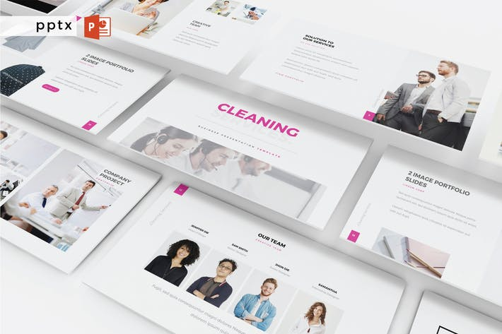 Thumbnail for CLEANING SERVICE  - Powerpoint  V404