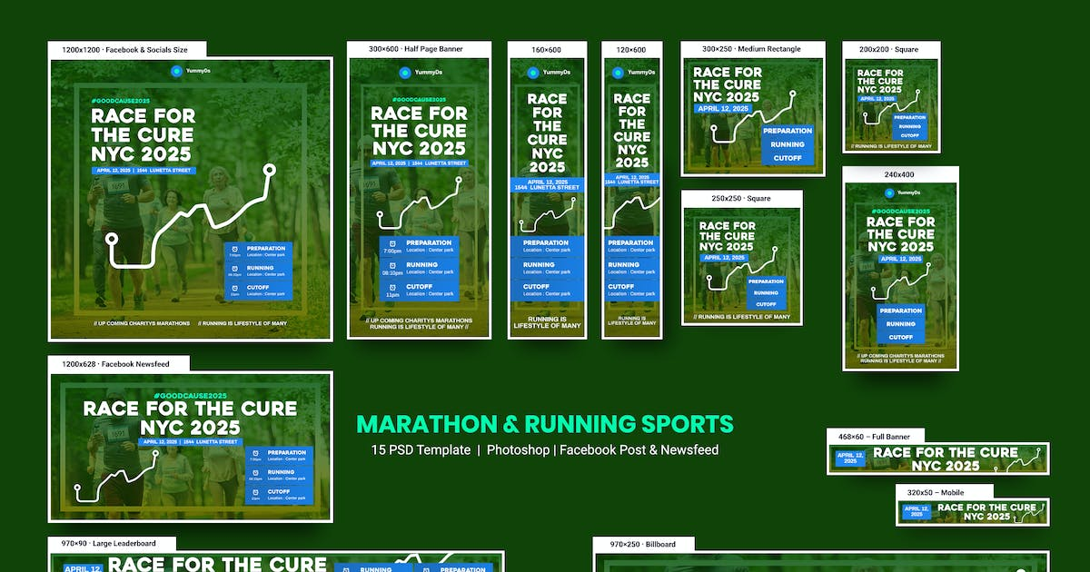 Download Marathon & Running Sports Banners Ad by YummyDs